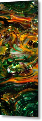 Glass Macro Abstract Ego1 Metal Print by David Patterson