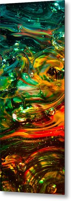 Glass Macro Abstract Ego1ce Metal Print by David Patterson