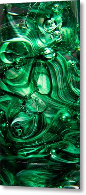 Glass Macro Abstract Egw Metal Print by David Patterson