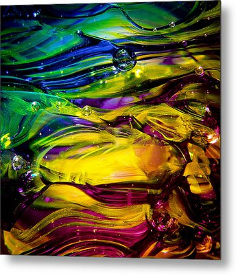 Glass Macro Abstract Rcy1 Metal Print by David Patterson