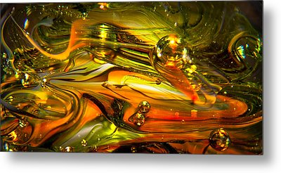 Glass Macro Abstract Rgo1 Metal Print by David Patterson