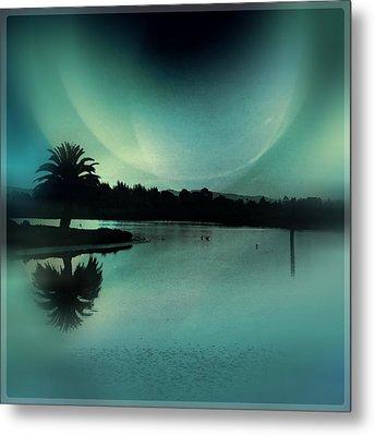 Glass Moon Metal Print