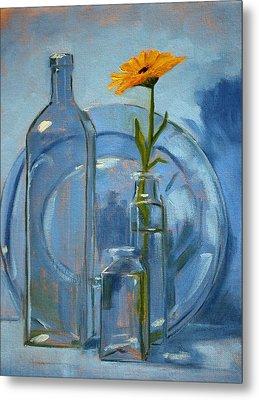 Glass Metal Print by Nancy Merkle