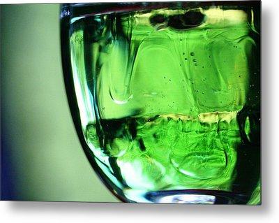 Glass Of Green Metal Print