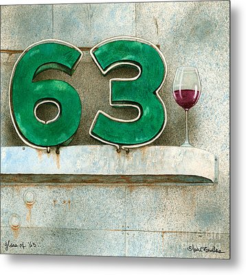 Glass Of Sixty Three... Metal Print by Will Bullas