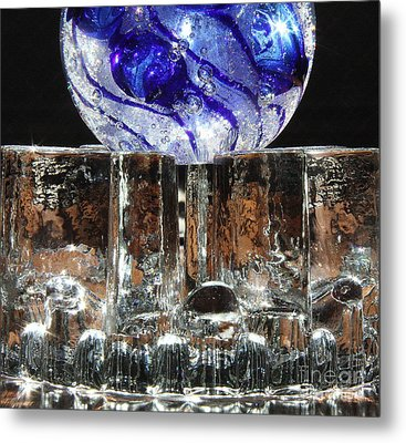 Glass On Glass Metal Print by Jolanta Anna Karolska