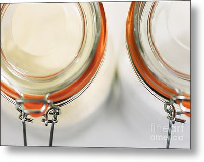 Glass Sugar Jars Metal Print by Natalie Kinnear