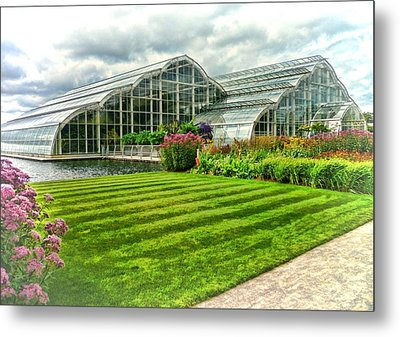 Glasshouse At Wisley Metal Print by Paul Gulliver