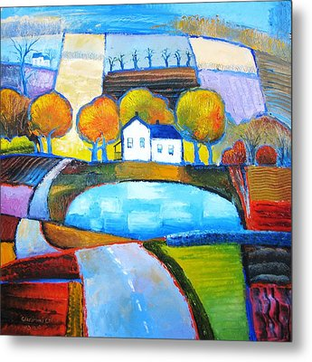 Glastonbury Farmhouse Metal Print