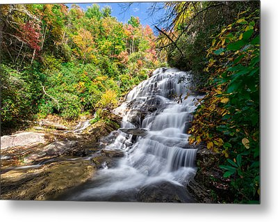 Glen Falls In North Carolina Metal Print by Andres Leon