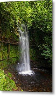 Glencar Waterfall Is Situated Metal Print