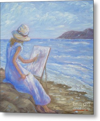 Metal Print featuring the painting Glennabythesea by Glenna McRae