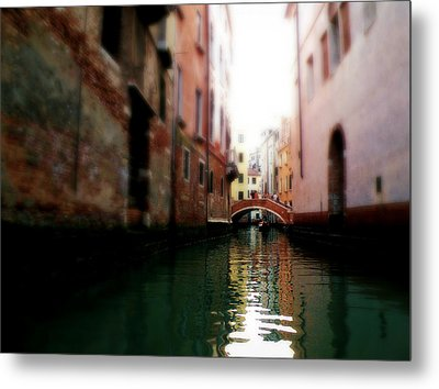 Metal Print featuring the photograph Gliding Along The Canal  by Micki Findlay