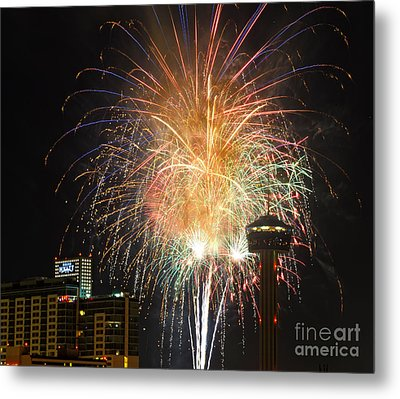 Glitter In The Sky Metal Print by Cathy Alba