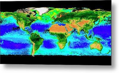 Global Biosphere Metal Print by Nasa/seawifs/geoeye