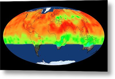 Global Co2 Concentrations Metal Print