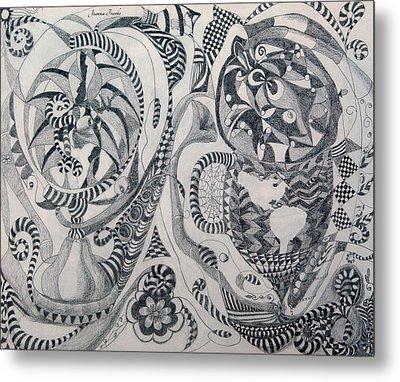 Globes And Gardens Metal Print by Joanna Franke