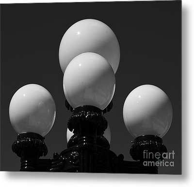 Metal Print featuring the photograph Globes by Linda Bianic