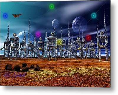 Metal Print featuring the photograph Gloeroxz by Mark Blauhoefer