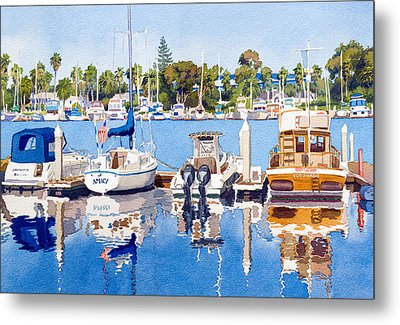 Glorietta Bay Marina Metal Print