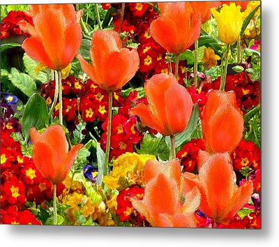 Glorious Garden Metal Print