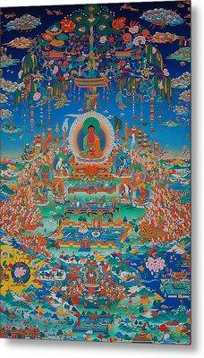 Glorious Sukhavati Realm Of Buddha Amitabha Metal Print