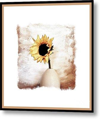 Glorious Sunflower Metal Print by Marsha Heiken
