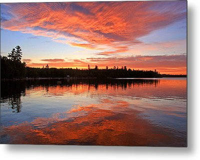 Glorious Sunrise At The Lake Metal Print