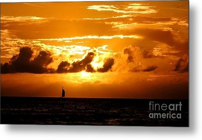 Glorious Sunset Metal Print by Kristine Merc
