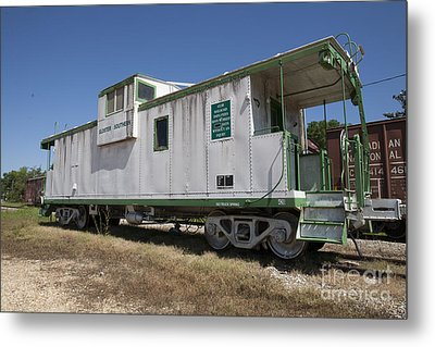 Gloster Caboose Metal Print by Russell Christie
