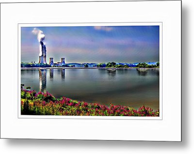 Glowing 3 Mile Island Metal Print