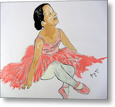 Glowing Ballerina Metal Print by Erin T