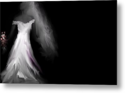 Glowing Bride Metal Print