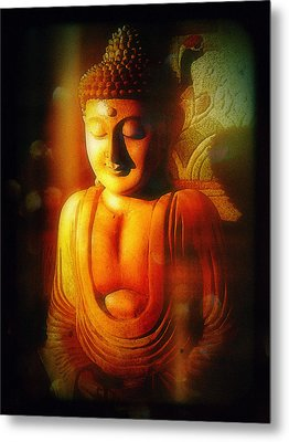 Metal Print featuring the photograph Glowing Buddha by Paul Cutright