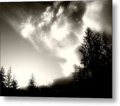 Metal Print featuring the photograph Glowing Clouds by Adria Trail