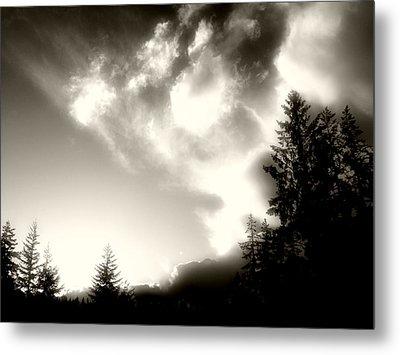 Glowing Clouds Metal Print by Adria Trail