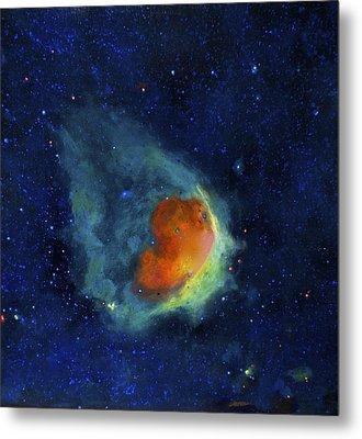 Glowing Emerald Nebula Metal Print by Jim Ellis