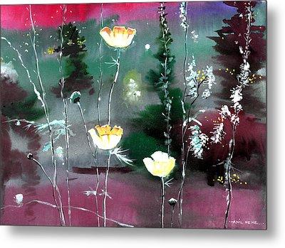 Glowing Flowers Metal Print by Anil Nene