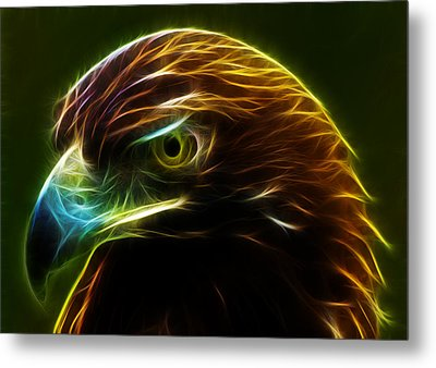 Glowing Gold Metal Print by Shane Bechler