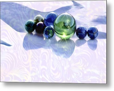 Metal Print featuring the photograph Glowing Marbles by Cynthia Lagoudakis
