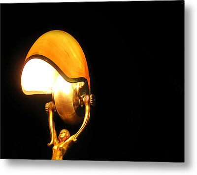 Glowing Shell Metal Print by Jhoy E Meade