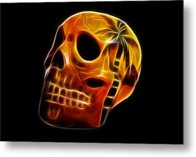Glowing Skull Metal Print by Shane Bechler
