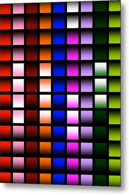 Metal Print featuring the digital art Glowing Squares  by Gayle Price Thomas
