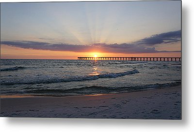 Glowing Sunset Metal Print by Sandy Keeton