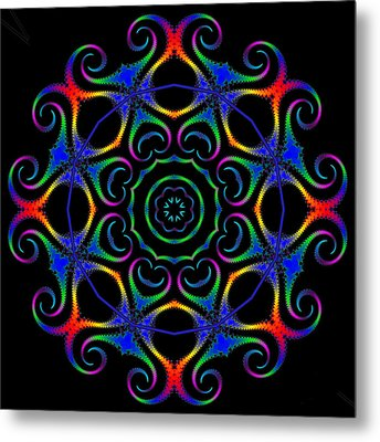 Glowworm Circle Metal Print by Pat Follett