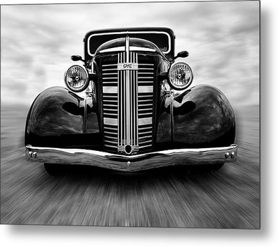 Gmc On The Move Metal Print by Keith Hawley