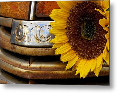 Gmc Sunflower Metal Print