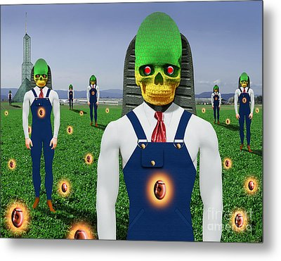 Gmo Demon Seeds Metal Print by Keith Dillon