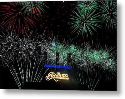 Go Indians Metal Print by Frozen in Time Fine Art Photography