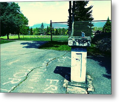 Metal Print featuring the photograph School Drinking Fountain by Laurie Tsemak